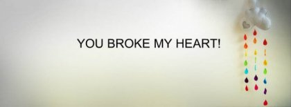 You Broke My Heart Facebook Covers