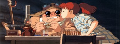 Anime Ghibli Porco Rosso Kiss Facebook Covers