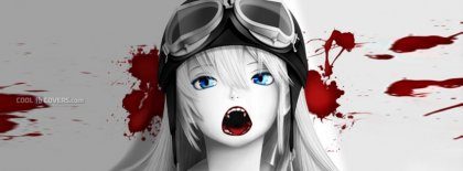 Anime Girl The Scream Of Blood Facebook Covers