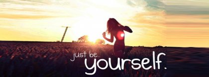 Be Yourself Girl Facebook Covers