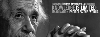 Einstien Knowledge Quote Facebook Cover Facebook Covers