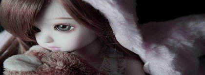 Cute Doll Girl Facebook Covers