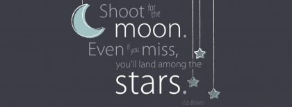 Shoot For The Moon Facebook Cover Facebook Covers