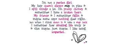 Unperfect Girl Fb Cover Facebook Covers